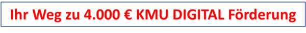 KMU Digital Förderung - Ihr Weg dorthin