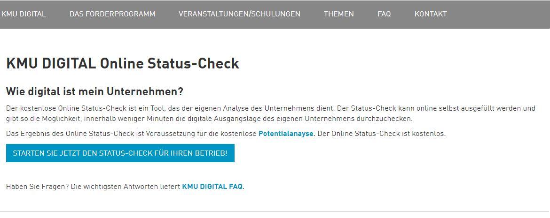 Online Status Check KMU DIGITAL Konstantin Heiller CDC CeCE OSC