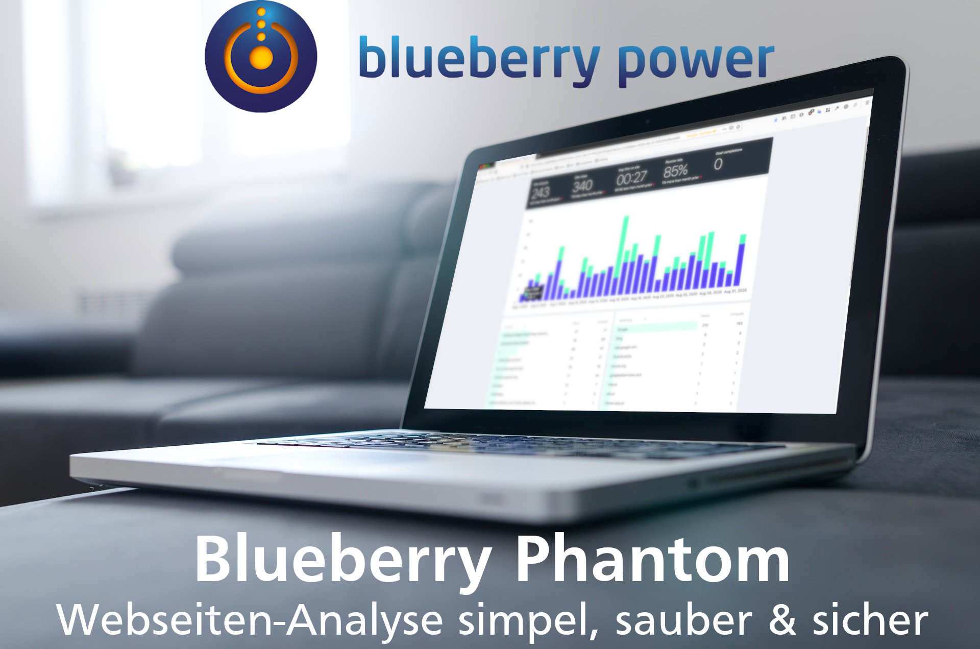 Blueberry Phantom als Alternative zu Google Analytics